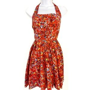Armani Exchange Floral Dress (Pink & Red)